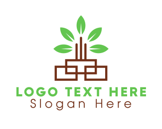 Green City - Green Leaf Tower logo design