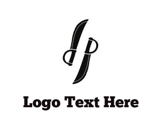 Fight - Black Knives logo design
