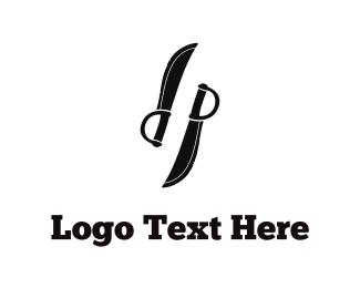 Fencing - Black Knives logo design