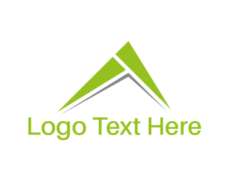 Mountain - Green Peak logo design