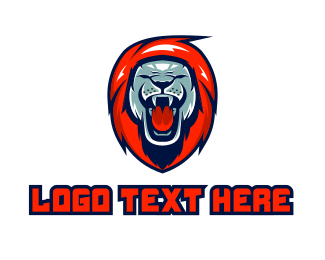 Clan - Lion Gaming Mascot logo design