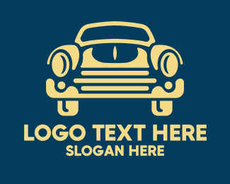 Car Restoration - Old School Car Style logo design