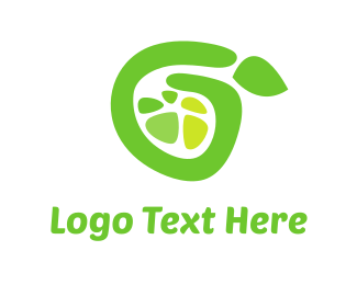 Slice - Green Lemon logo design