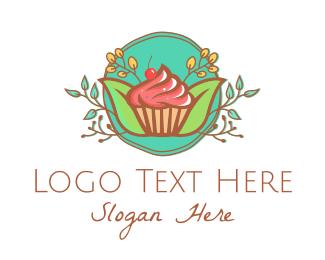 Cupcake - Pastry Cupcake Cake logo design