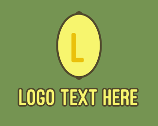 Lemon - Yellow Lemon Lettermark logo design