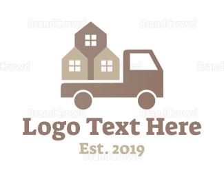 Distribution - Construction Truck logo design