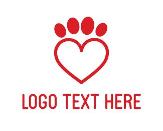 Paw - Pets Love logo design