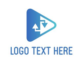 Upload - Video Share logo design