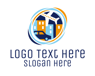 Tourist - City Transportation logo design
