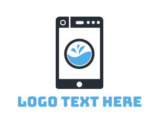 Mobile Phone - Cleaning App logo design