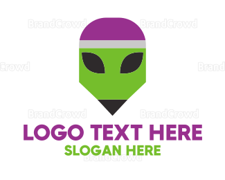 Alien - Pencil Alien  logo design