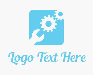 Mechanical - Blue Tool Box logo design