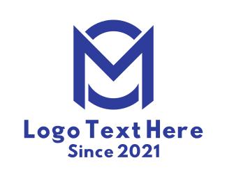 M - Blue Letter M & O logo design