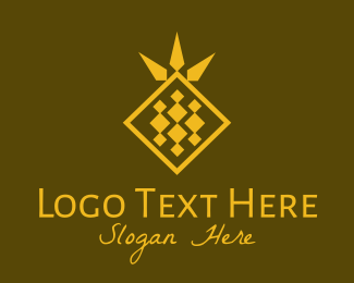 Marketplace - Golden Diamond Pineapple logo design