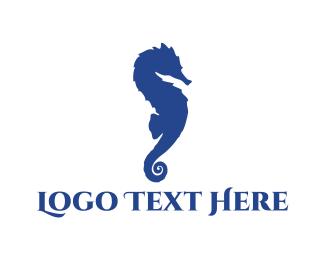 Beachwear - Blue Seahorse logo design