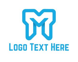 Melbourne - Bold Letter M logo design