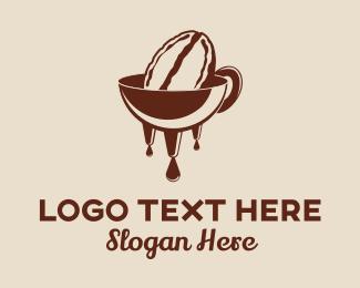 Drinking - Bean Melt logo design