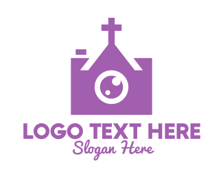Purple Camera - Christian Photographer logo design