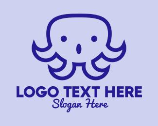 Social Media - Talking Octopus logo design