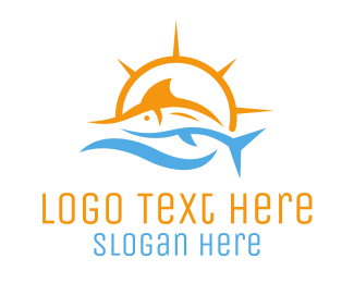 Salmon - Swordfish Fish logo design