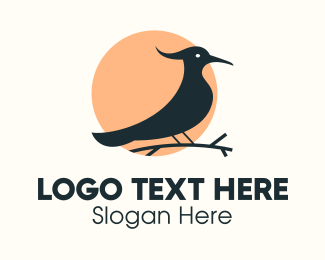Forest - Woodpecker Forest Bird logo design