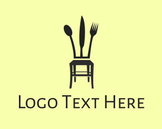 Eating - Cutlery Chair logo design