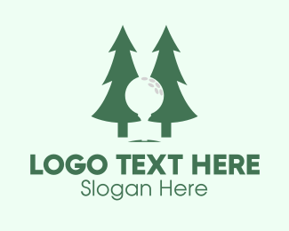Pine Trees - Forest Golf logo design