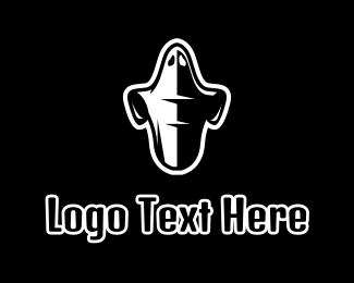 Ghost - Black & White Ghost logo design
