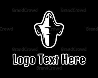 Costume - Black & White Ghost logo design