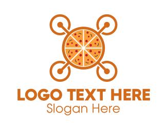Meal - Pizza Drone logo design