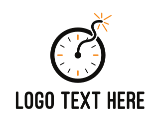 Timer - Time Bomb logo design