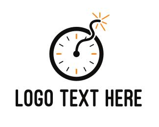 Explosion - Time Bomb logo design