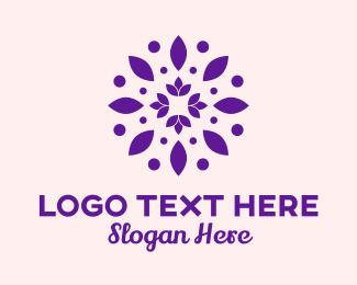 Flower Stand - Lotus Flower Pattern logo design