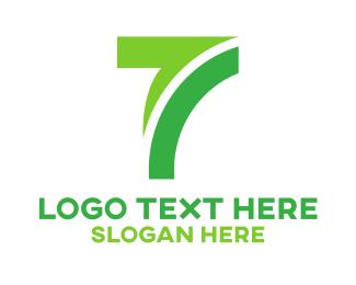 Hybrid - Industrial Green Number 7 logo design