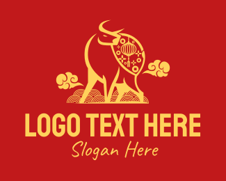Tradition - Modern Ox Lucky Charm logo design
