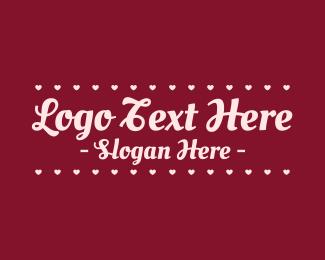 Hearts - Cursive Valentine Wordmark logo design
