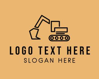Vehicle - Construction Crane Vehicle logo design