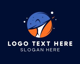 Negative Space - Galaxy Space Planet logo design