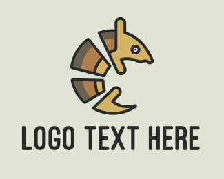 Wilderness - Brown Armadillo logo design
