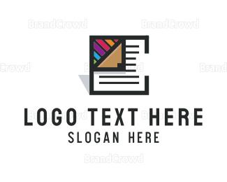 Color Pencil - Creative Document logo design