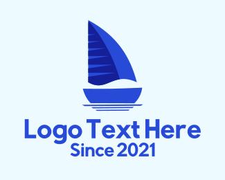Voyage - Sailing Blue Boat logo design