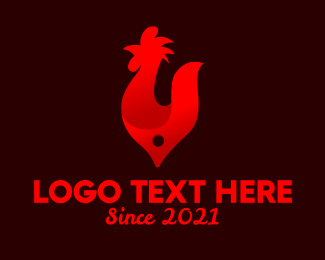 Poultry Farm - Fire Red Chicken Grill logo design