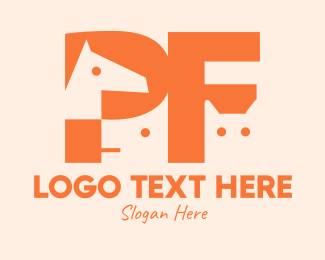 Animals - Animals Letter P & F logo design