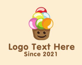 Creamery - Happy Scoops logo design