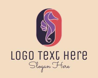 Seahorse - Elegant Seahorse logo design