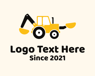 Dig - Backhoe Loader Equipment logo design