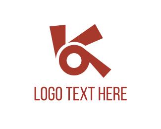 Curved - Red Propeller logo design