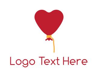 Balloon - Heart Balloon logo design