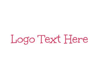 Handwritten - Pink & Handwritten logo design