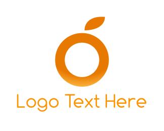 Citrus - Orange Letter O logo design